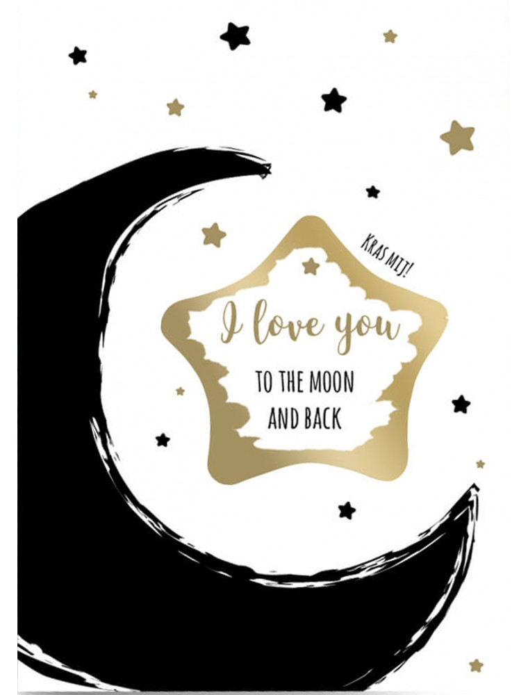 "Kraskaart liefde ""To the moon and back"""