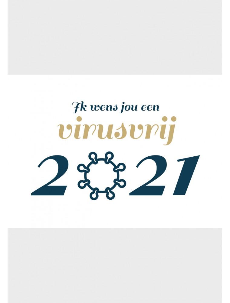 Virusvrij 2021 corona kerstkaart - Lacarta