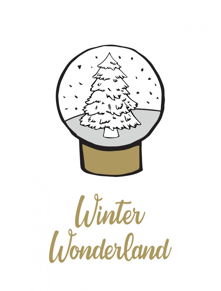 Kerstkaart winter wonderland