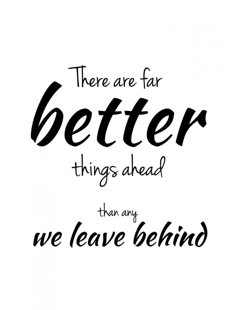 """Wenskaart """"Better Things Ahead"""""""