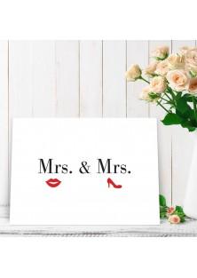 """Wenskaart """"Mr & Mr"""""""