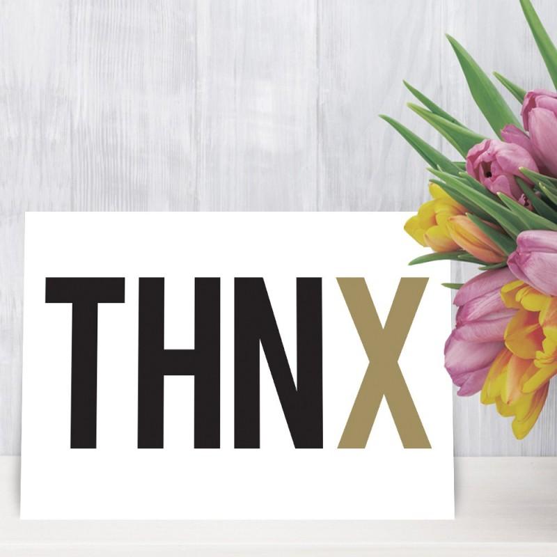 """Bedankingskaart """"THNX"""""""