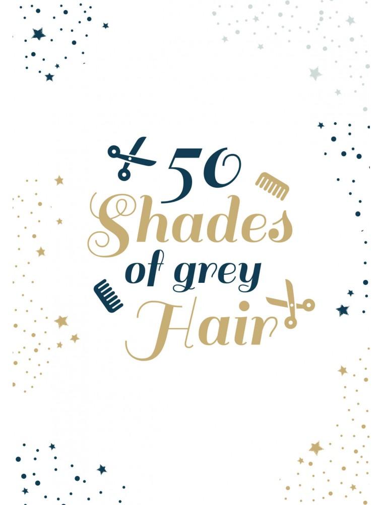 Pakket van 10: Verjaardagskaart grey hair