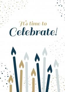 Pakket van 10: Verjaardagskaart kaarsjes