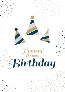 Pakket van 10: Verjaardagskaart hooray it's your birthday