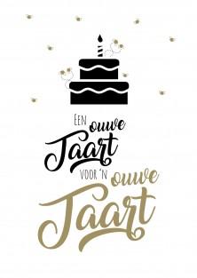 Pakket van 10: Grappige verjaardagskaart ouwe taart