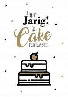Pakket van 10: Verjaardagskaart Ik cake er al naar uit