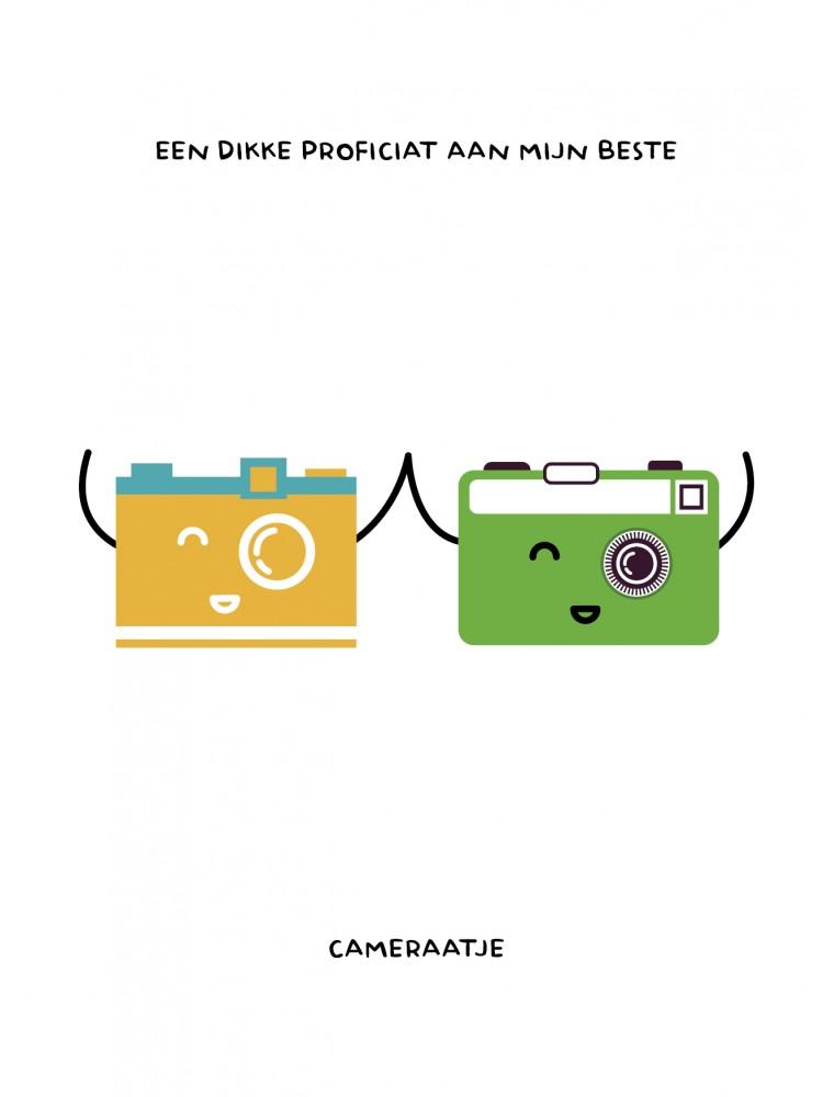 Verjaardagskaart voor fotograaf - proficiat cameraatje