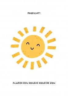 Nerd verjaardagskaart - Rondje rond de zon