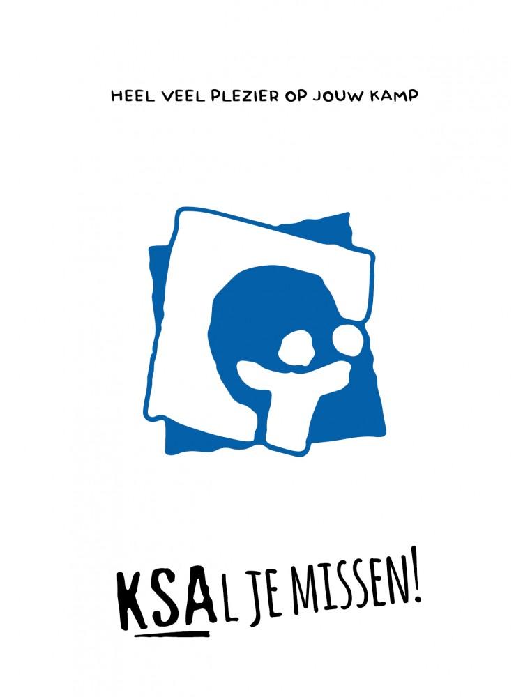 KSA kaartje voor op kamp