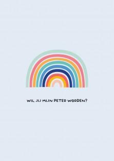 Wil jij mijn peter worden - Peter vragen wenskaart