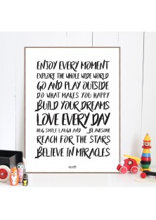 "Poster ""Believe In Miracles"""