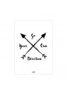 """Poster """"Go Your Own Direction"""""""