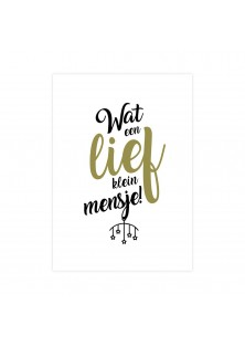 "Geboortekaart ""Lief Klein Mensje"""