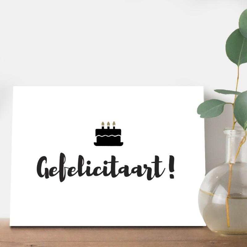 """Verjaardagskaart """"Gefelicitaart"""""""