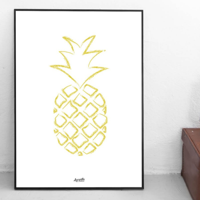 "Poster ""Ananas"""