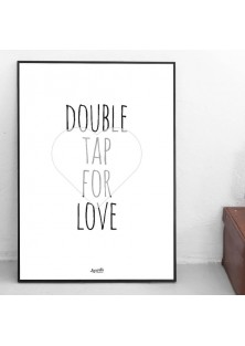 "Poster ""Double Tap For Love"""