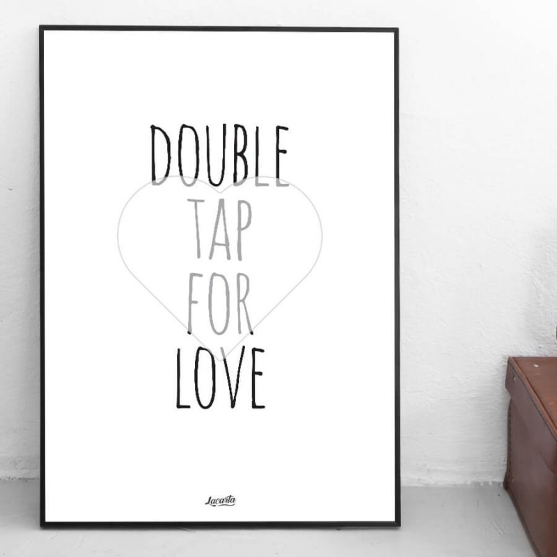 """Poster """"Double Tap For Love"""""""
