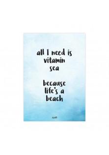 """Poster """"Vitamin Sea"""""""