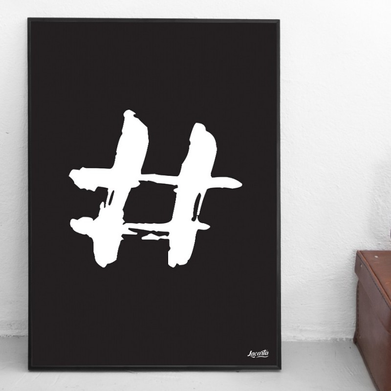 "Poster ""Hashtag"""
