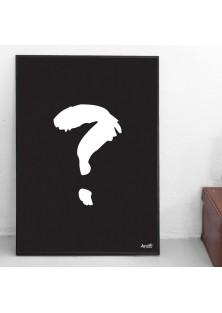"""Poster """"Vraagteken"""""""