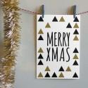 """Kerstkaart """"Merry Xmas Triangles"""""""