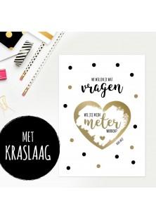 """Kraskaart """"Meter Worden"""""""