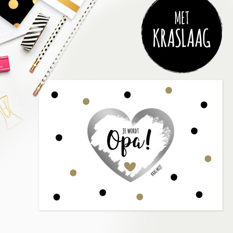 """Kraskaart """"Je Wordt Opa"""""""
