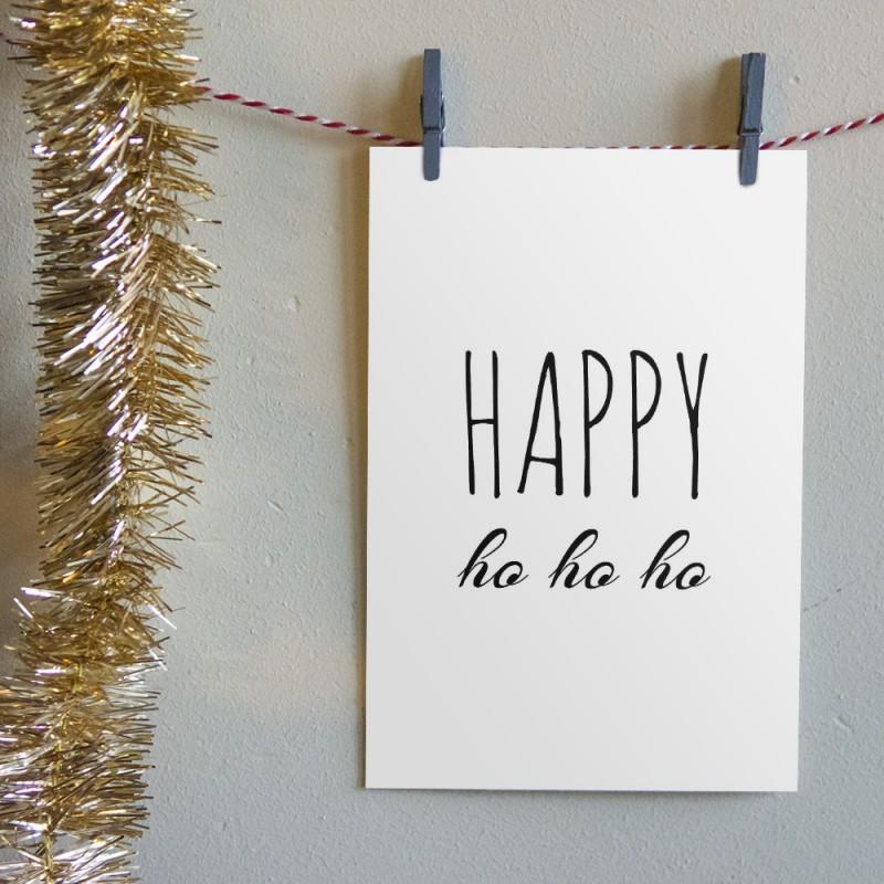 """Kerstkaart """"Happy Ho Ho Ho"""""""