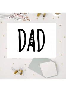 """Wenskaart """"To The Best Dad"""""""
