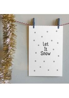 """Kerstkaart """"Let It Snow 2"""""""