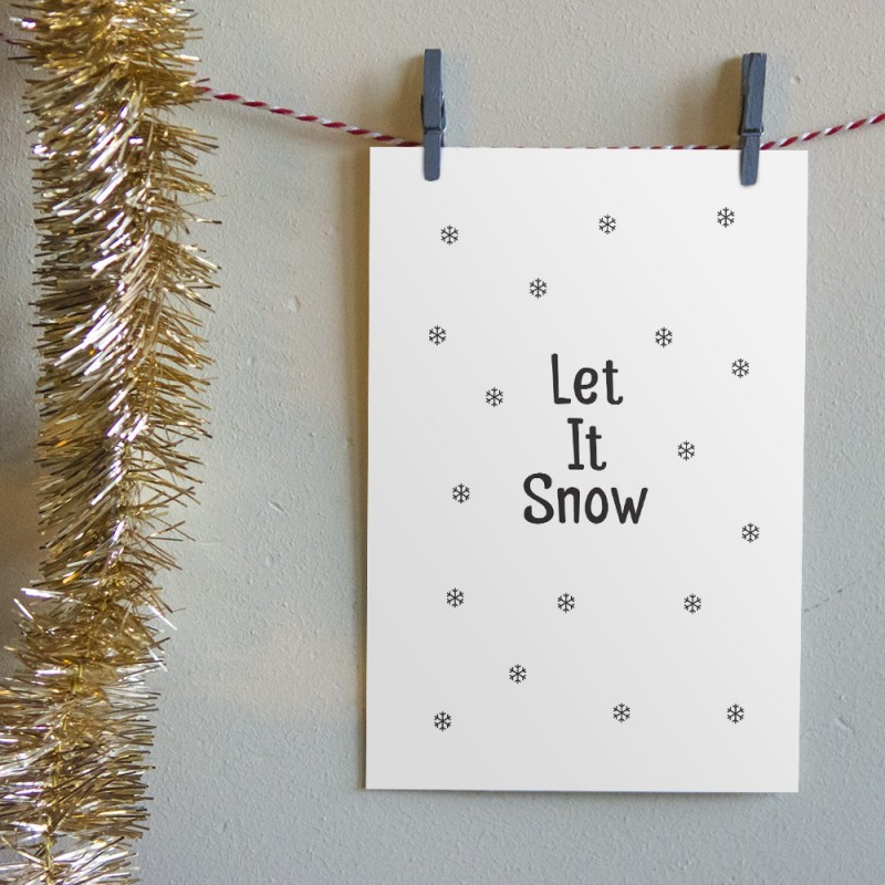 "Kerstkaart ""Let It Snow 2"""