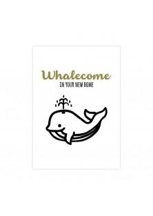 "Wenskaart ""Whalecome"""