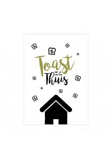 "Wenskaart ""Toast"""