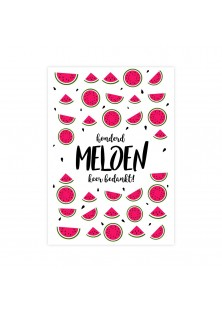 """Bedankingskaart """"Honderd Meloen 2"""""""