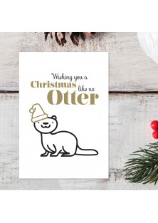 "Kerstkaart ""Like No Otter"""