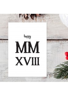 "Kerstkaart ""Happy MMXVIII"""