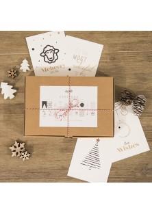 Kerstbox - 20 Kerstkaarten met enveloppen